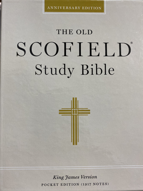 KJV, The Scofield Study Bible, Pocket Edition, Black/Burgundy Bonded Leather
