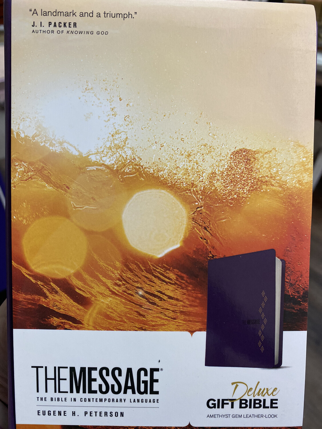 THE MESSAGE Deluxe Gift Bible, Amethyst Gem Leather Look