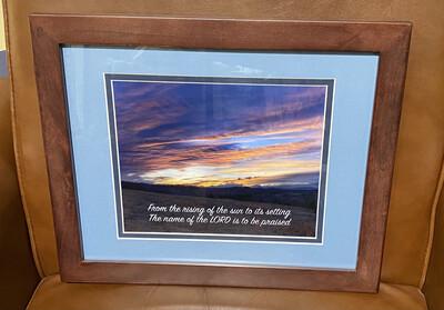 Print-Rising Sun Framed
