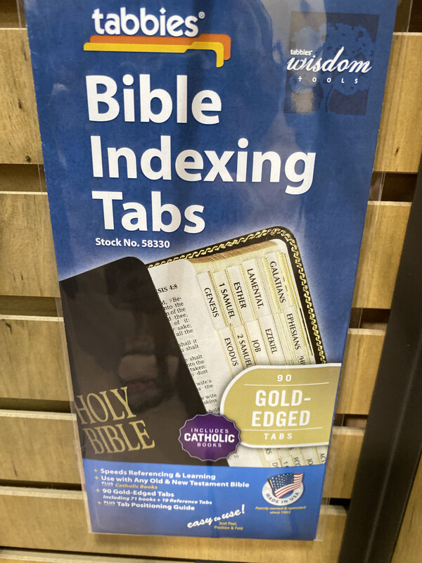Bible Indexing Tabs, Gold Edge, With Catholic Books