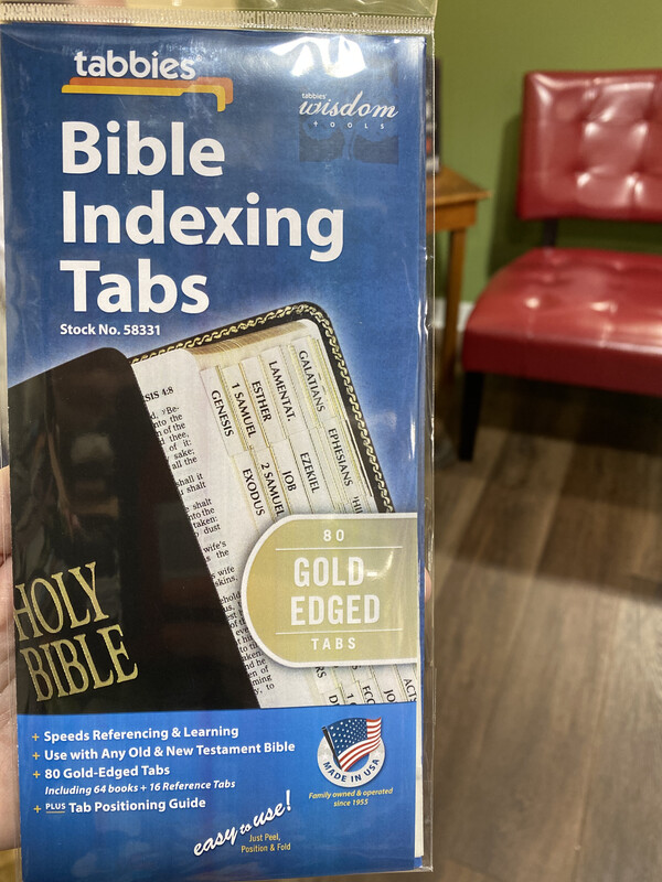 Bible Indexing Tabs, Gold Edge