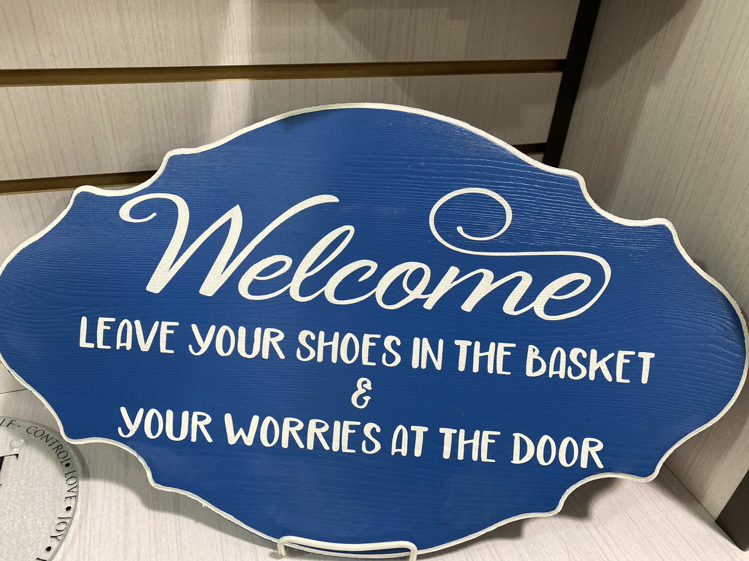 Welcome, Shoes In Basket