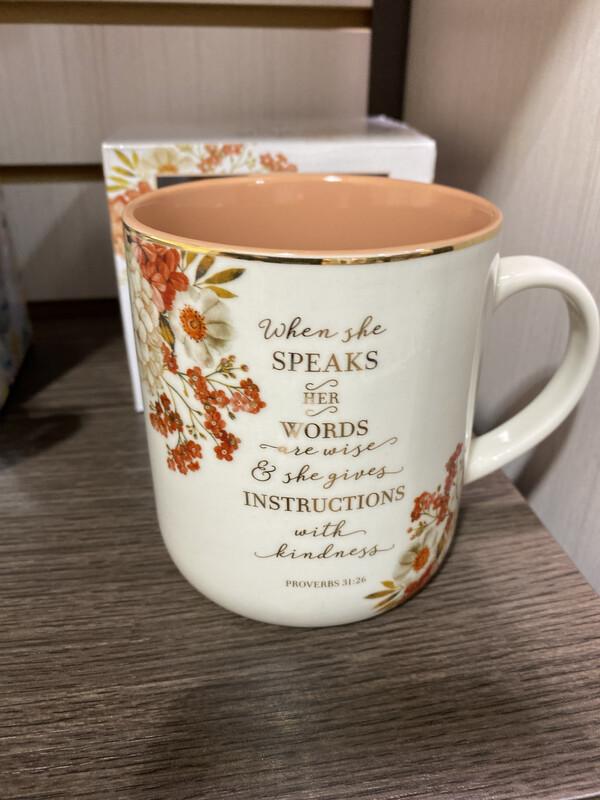 Mug, When She Speaks