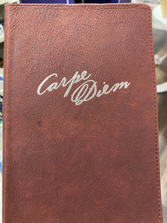 Journal, Leather Carpe Diem