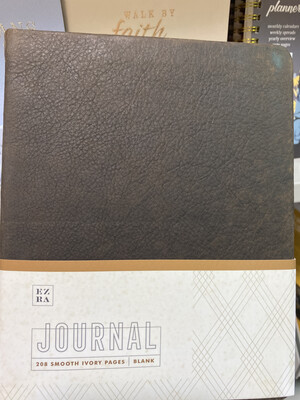Ezra Blank Journal, Dark Leather