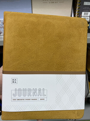 Ezra Grid Journal, Tan Leather