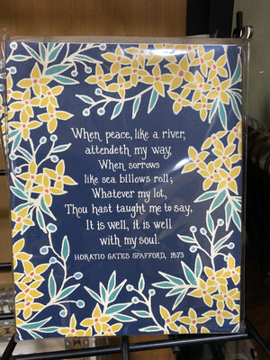 Hymn Greeting Cards Navy Blue