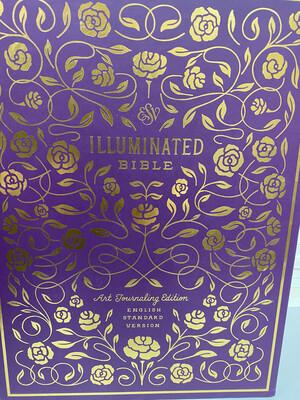 ESV, Illuminated Bible, Cloth Over Board, Eggplant