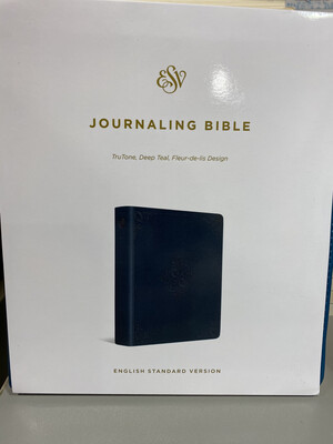 ESV, Journaling Bible, Truton, Deep Teal, Fleur-de-lis Design