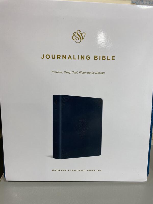 ESV, Journaling Bible, Truton, Deep Teal, Fleur-de-lis Design