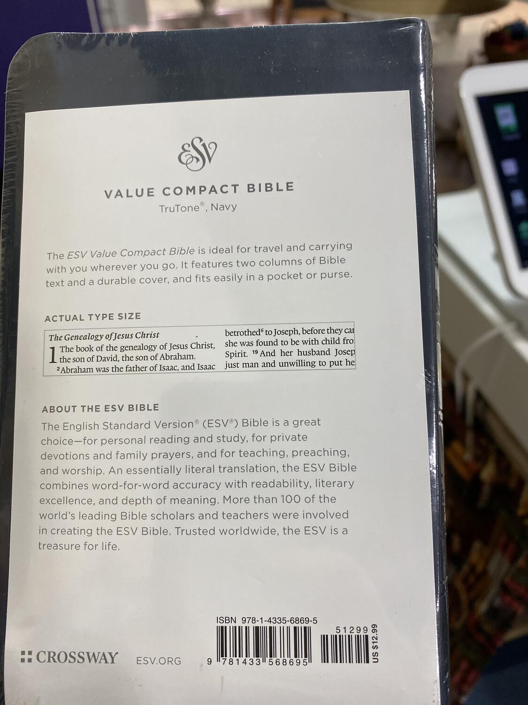 ESV, Value Compact, Trutone, Navy
