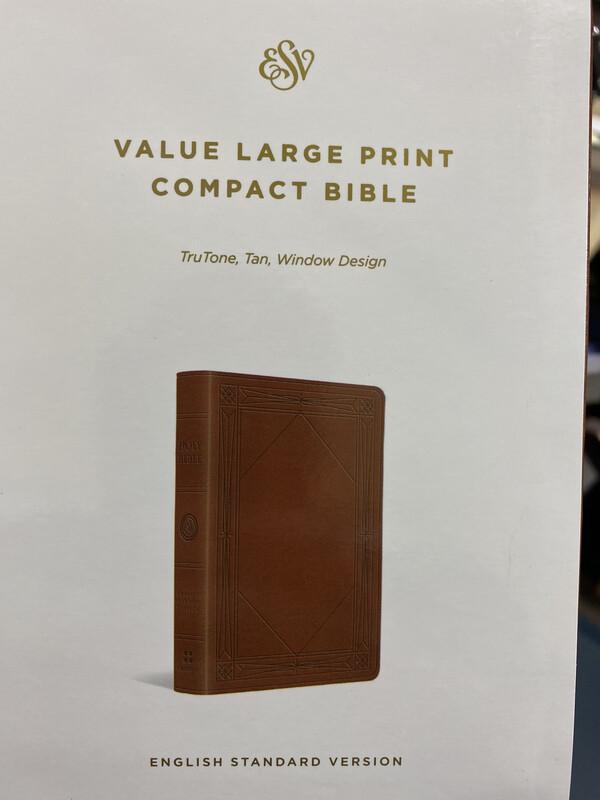 ESV, Value Large Print, Compact Bible, Trutone Tan