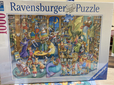 Midnight At The Library, Ravensburger Puzzle 1000 Piece