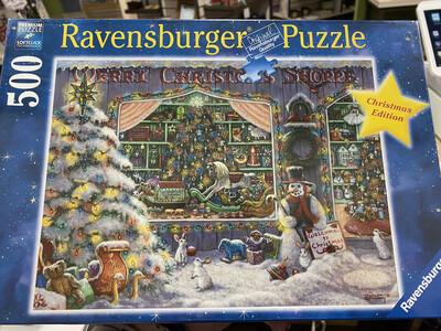 Ravensburger Puzzle, Christmas Shoppe, 500 Piece