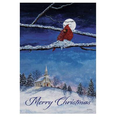 Merry Christmas Cardinal, 13x18 Garden Flag