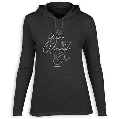 His Grace Is Enough, Hooded T-shirt, 2XL