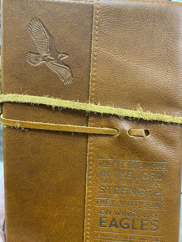 Wings Like Eagle, Leather Journal
