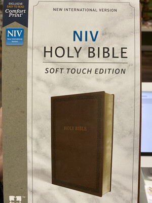 NIV, Soft Touch Edition, Comfort Print, Brown Leathersoft