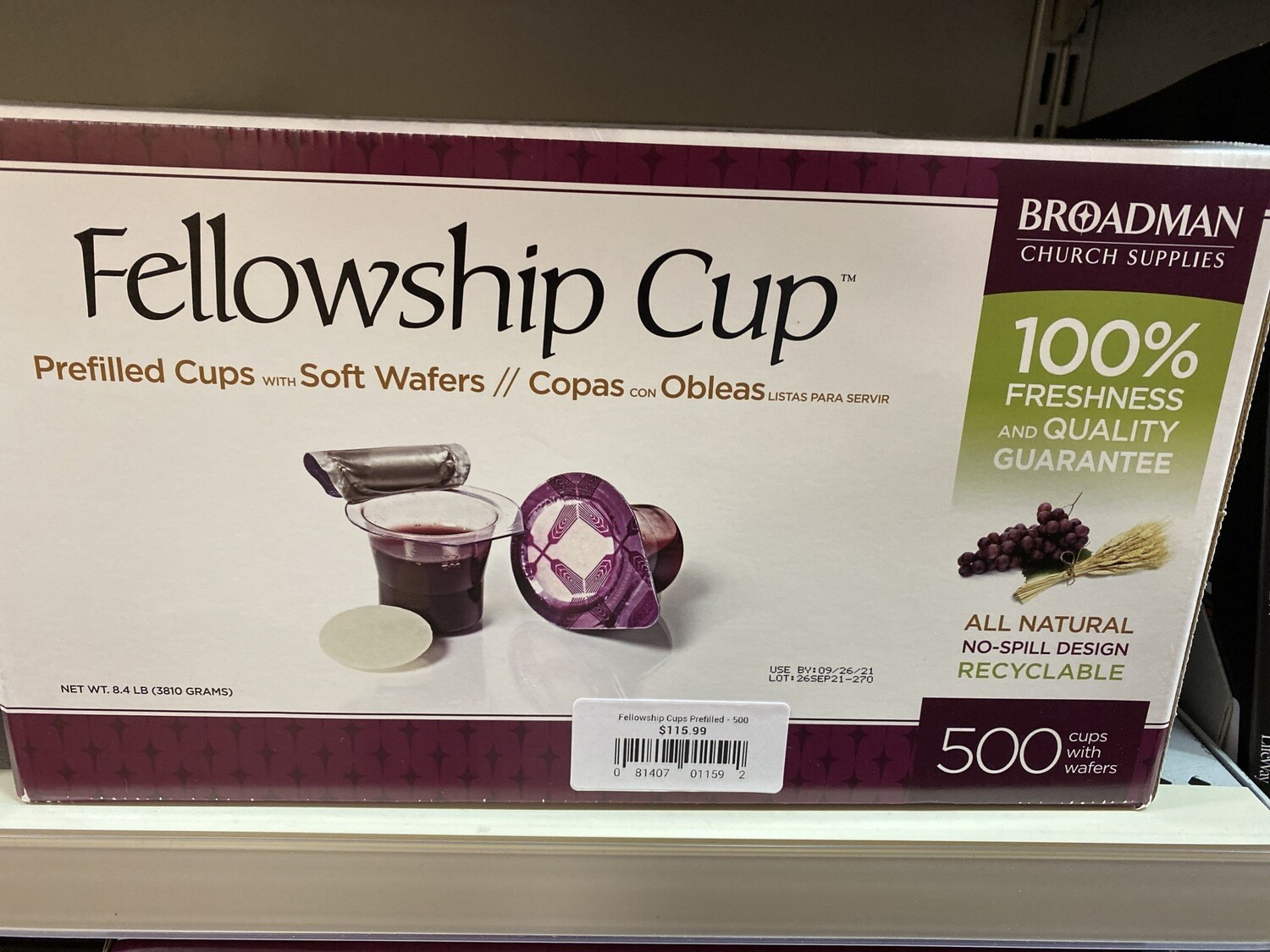Fellowship Cup Prefilled - 500 Count
