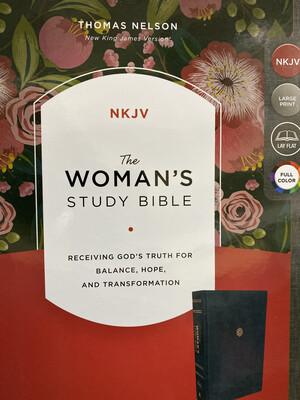 NKJV, The Woman's Study Bible, Large Print, Navy Leathersoft