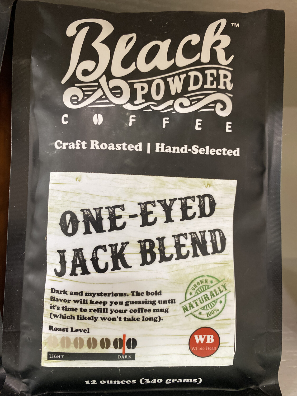 BlkPwdr: One-Eyed Jack Blend, Whole Bean, 12 oz.