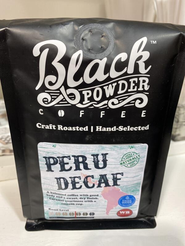 BlkPwdr: Peru Decaf, Whole Bean, 12 oz.