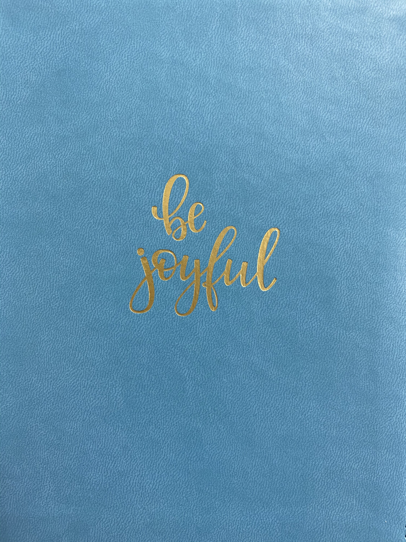 Journal, Be Joyful Lux leather