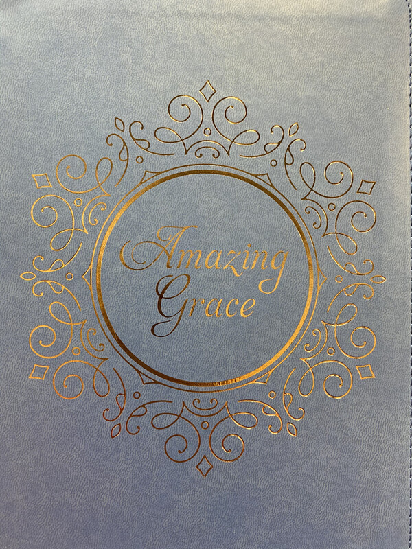 Journal, Amazing Grace Blue Lux Leather