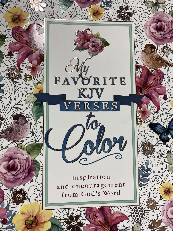 My Favorite KJV Verses To Color, Coloring Book