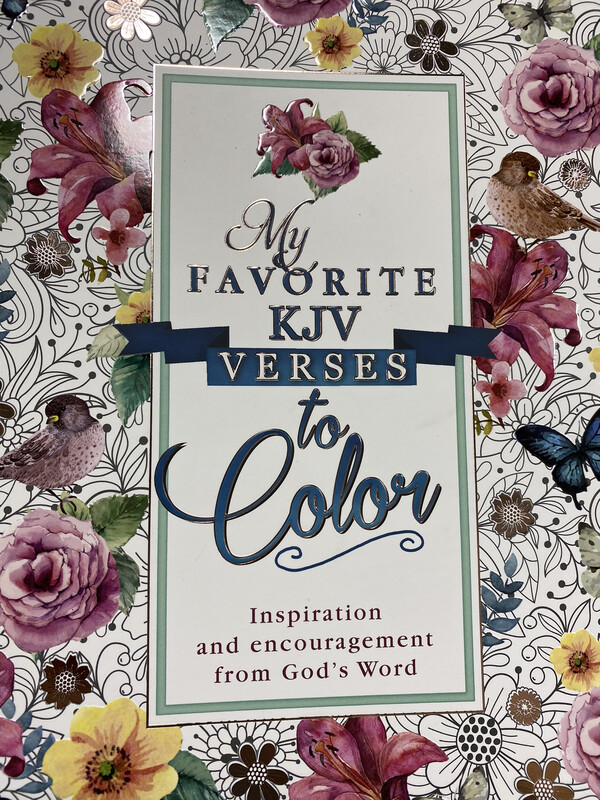 My Favorite KJV Verses To Color, Coloring Book