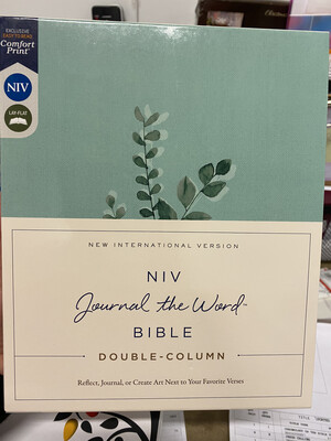NIV, Journal The Word, Double Column, Teal Cloth Over Board