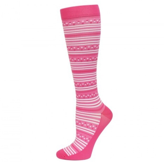 Premium Pink Stripes Fashion Compression Sock 💚