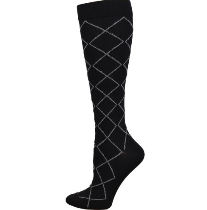 Diamond Compression Sock { Black} 💚