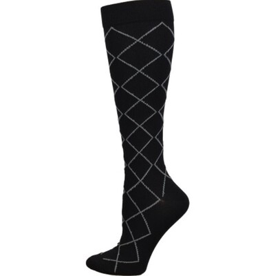 Diamond Compression Sock { Black} 💚
