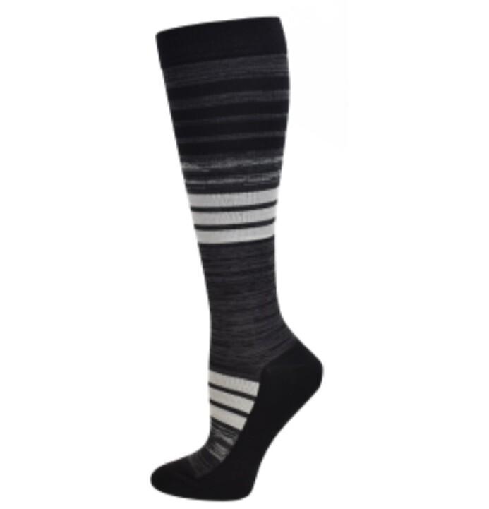 Men's Striped Premium Compression Sock 💚