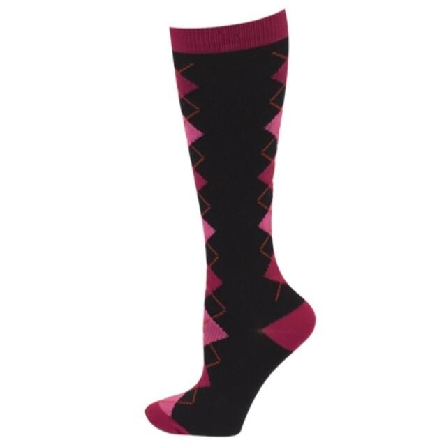 Ultra Soft Argyle Compression Sock - Regular💚