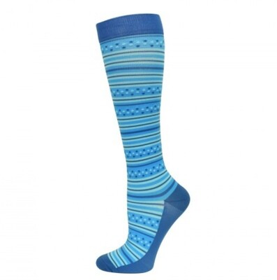 Premium Blue Stripes Fashion Compression Sock 💚