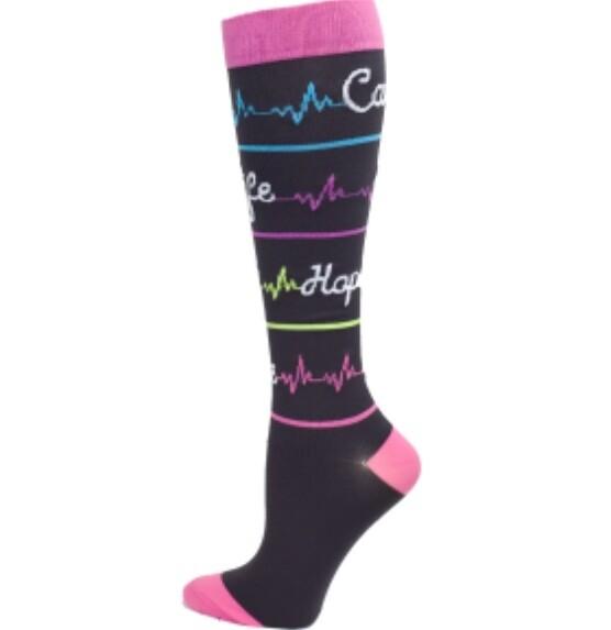 Premium Heal Script Fashion XL Compression sock