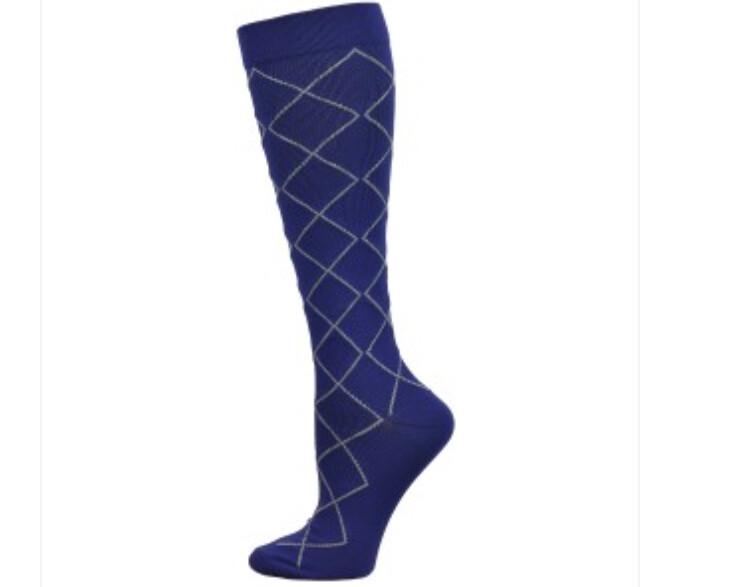 Diamond Compression Sock { Navy} 💚