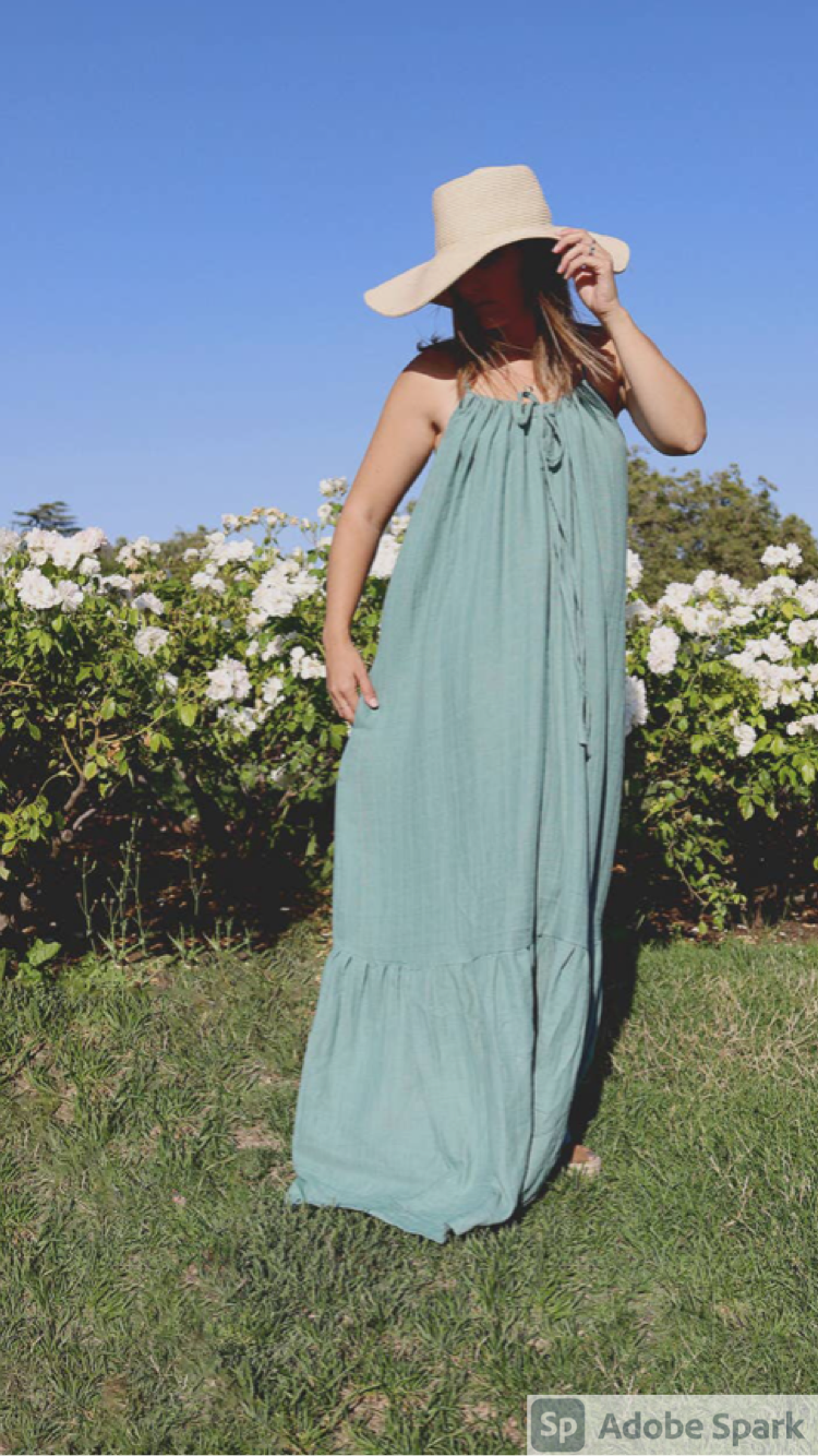 PRE- ORDER NOW!!!  Women's Organic Maxi Sundress