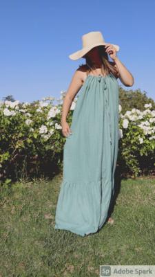 PRE- ORDER NOW!!!  Women's Organic Maxi Sundress