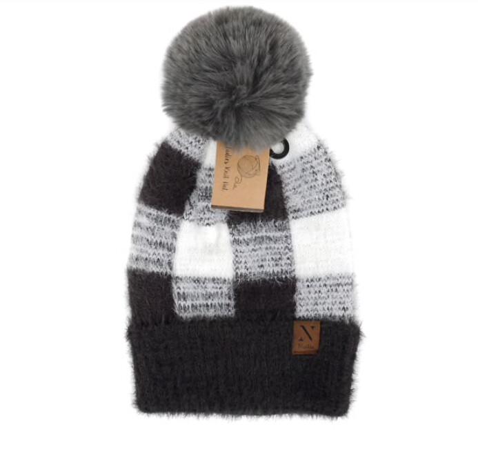 Women's Pom Pom Knit Winter Hat