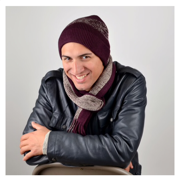 Men's Winter Knit Scarf and Hat Set