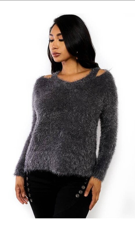 Pullover Distressed Sweater