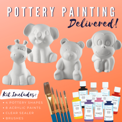 Animal Fun Deluxe Pottery To-Go Kit