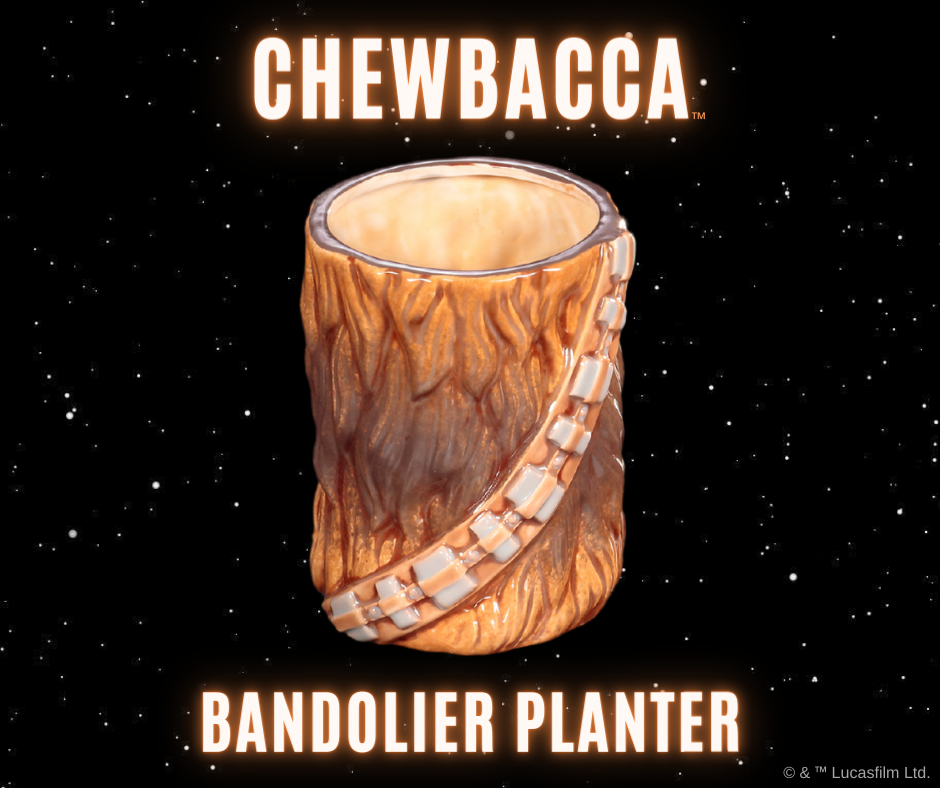 Deluxe Star Wars Chewbacca Bandolier Planter Art Box