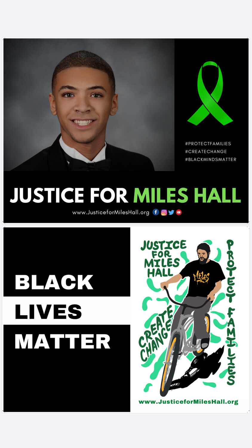 Justice for Miles/Black Lives Matter Sign