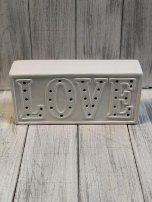 Love Light Up Word Plaque