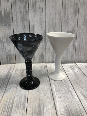 Beaded Martini Glass