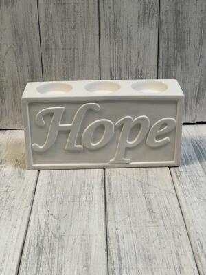 Faith/Hope Votive Holder